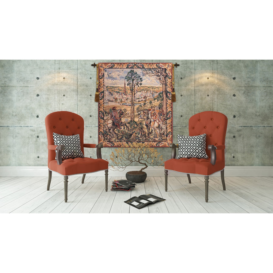 Old Brussels Flanders Vertical European Hanging Wall Tapestry