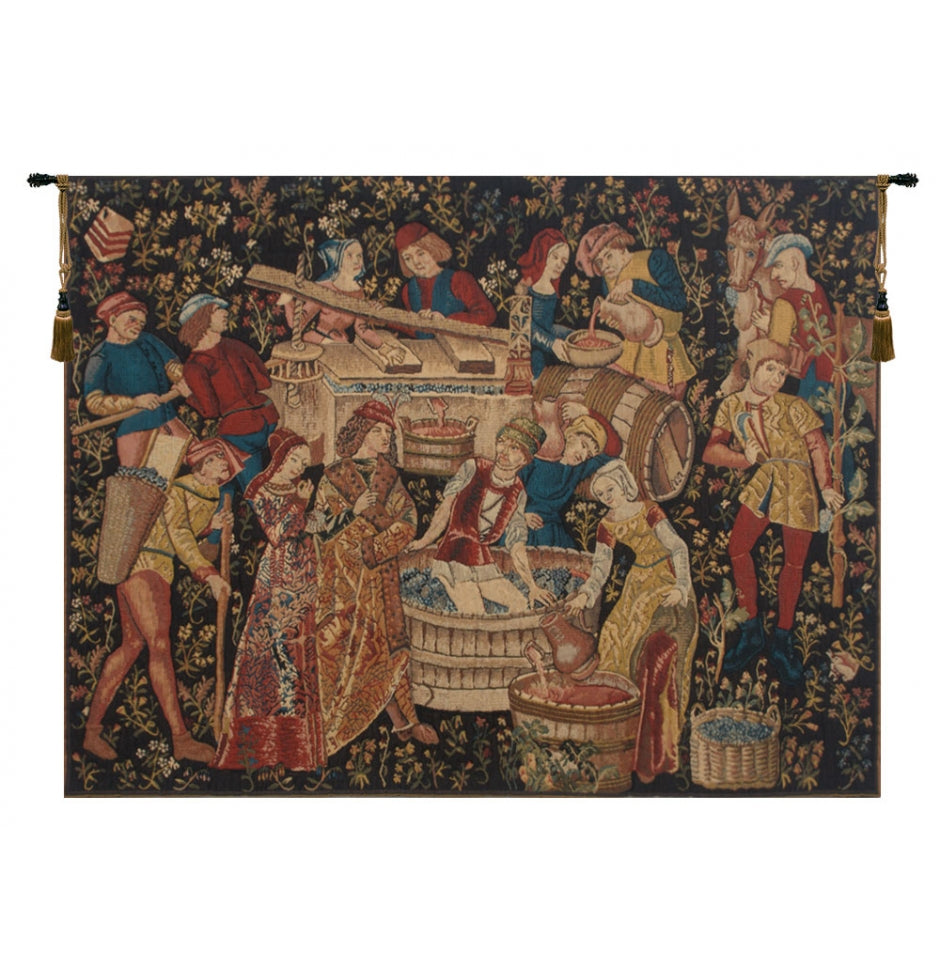 Grapes Harvest Vendanges European Hanging Wall Tapestry