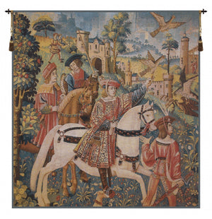 Chasse Flanders European Hanging Wall Tapestry