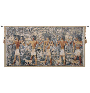 Saqqarah Blue Part 2 European Hanging Wall Tapestry