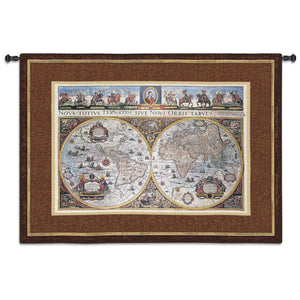 Brown Map Tapestry
