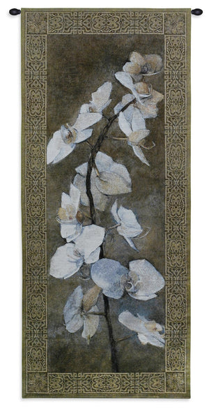 Orchids Floral Jacquard Woven Tapestry