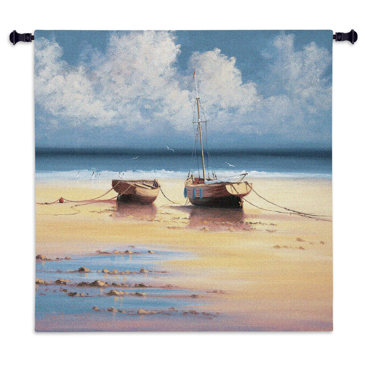 ships nautical beach woven tapestries