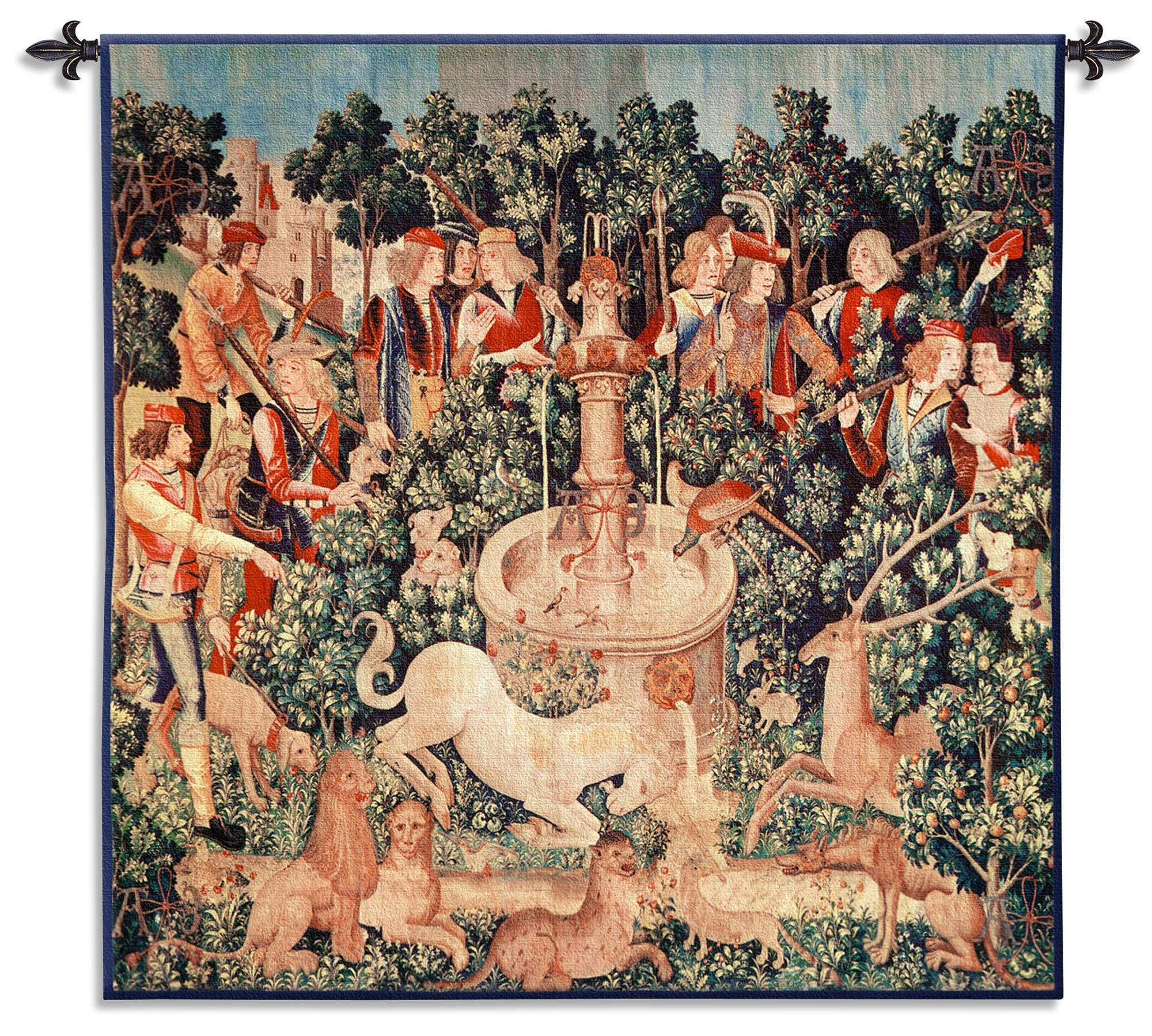 The Unicorn Is Found Woven Tapestry