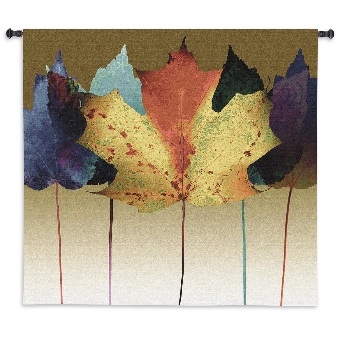 Leaf Dance Wall Hanging Textile Tapestry