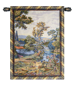 Blue Cascata Italian Wall Hanging Tapestry