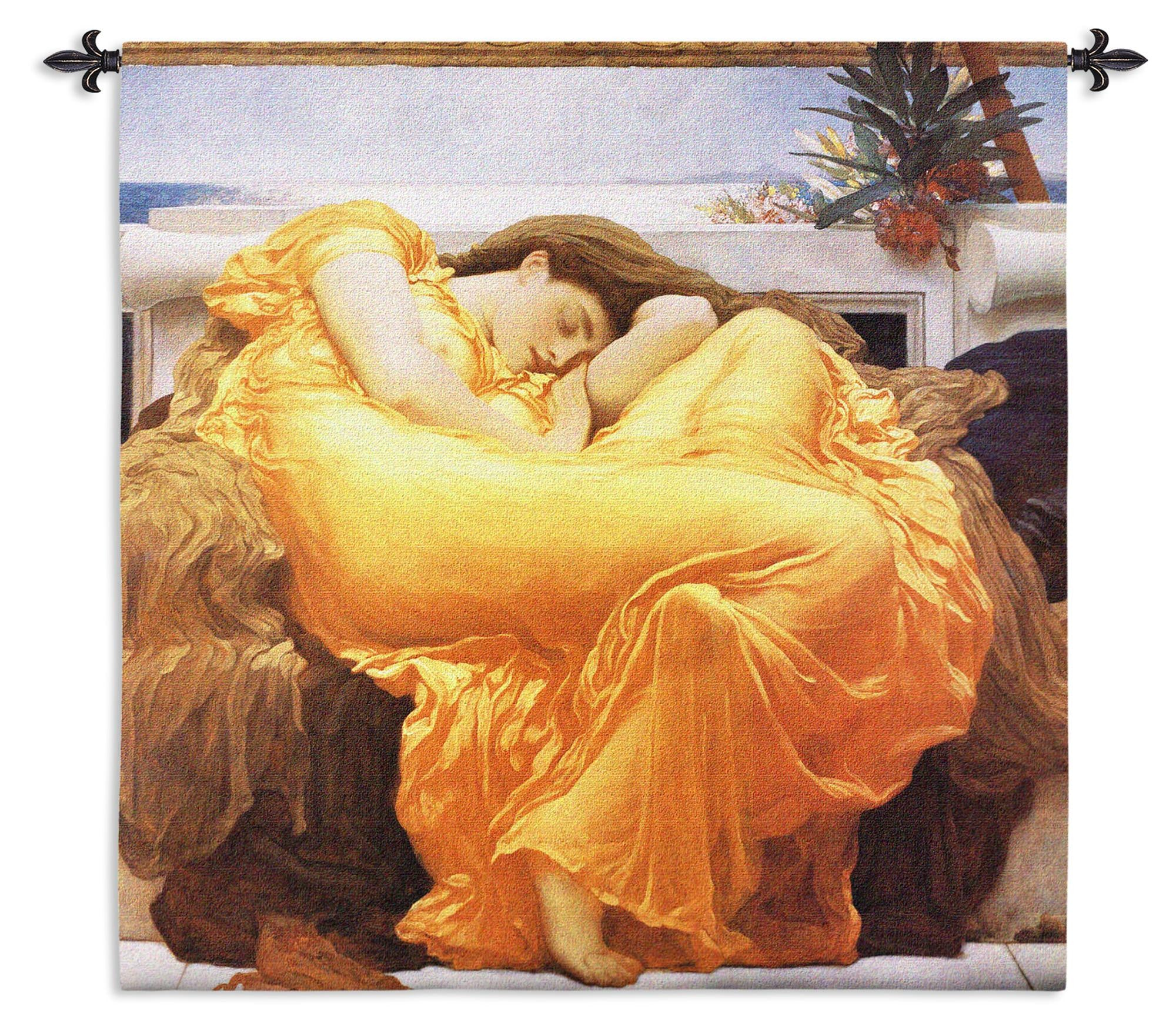 Flaming June by Leighton Woven Tapestry