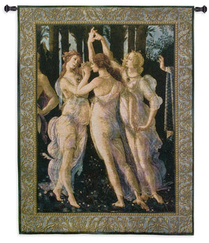Primavera The Three Graces Wall Tapestry