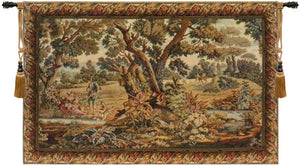 Hunters Resting Italian Wall Hanging Tapestry