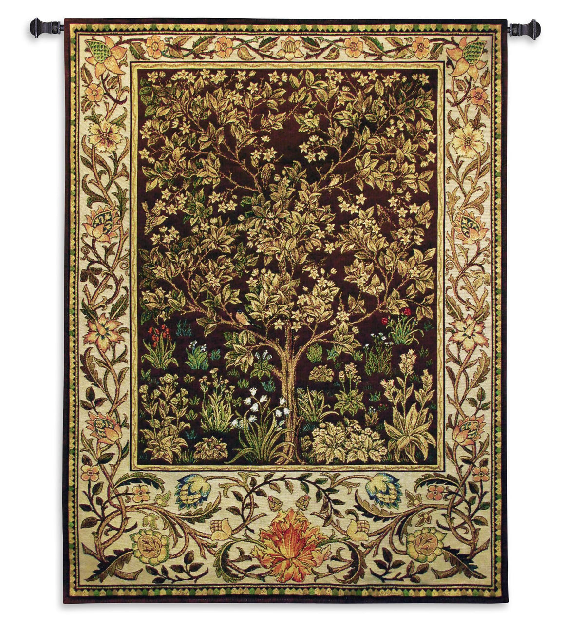 Tree of Life Tapestry Wall Decor In Umber