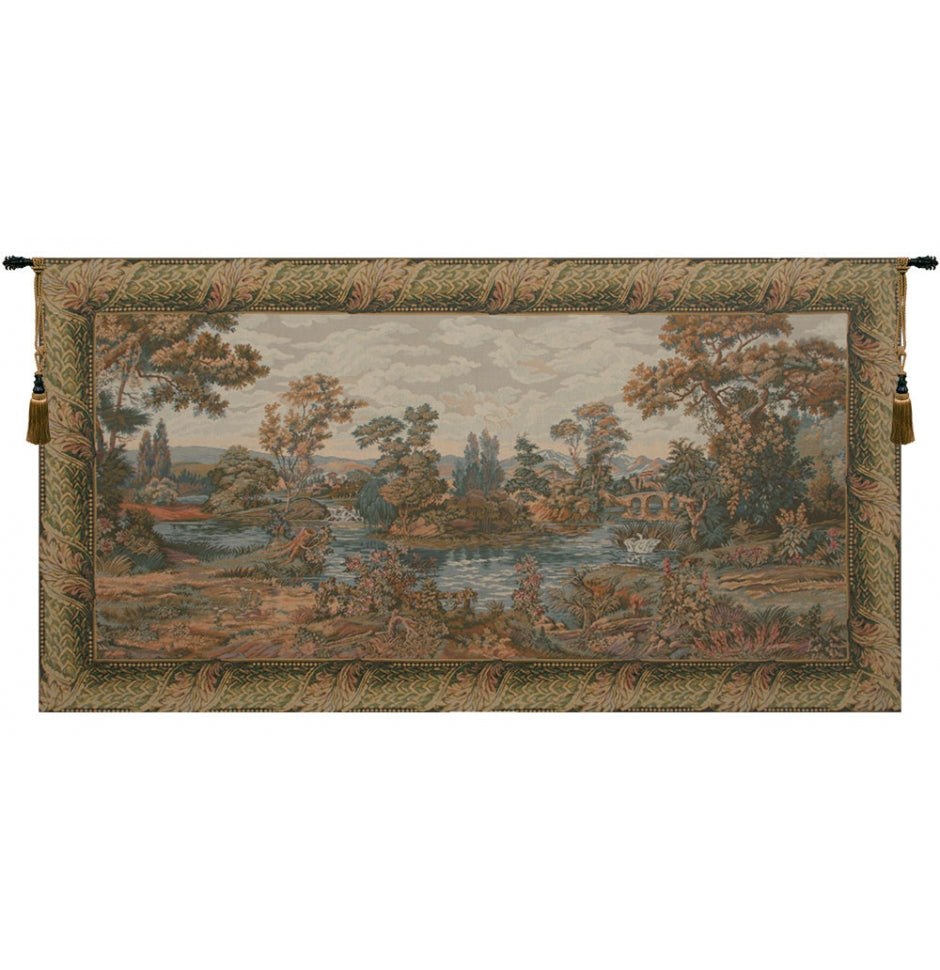 Swan in the Lake Italian Wall Hanging Tapestry