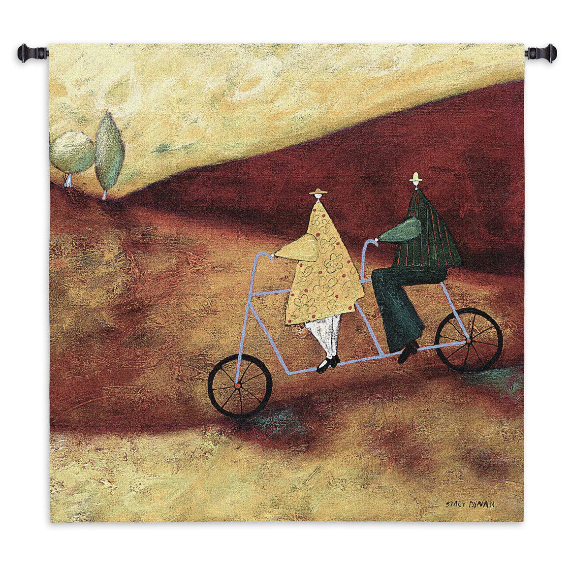 Rolling Home Together Woven Wall Hanging