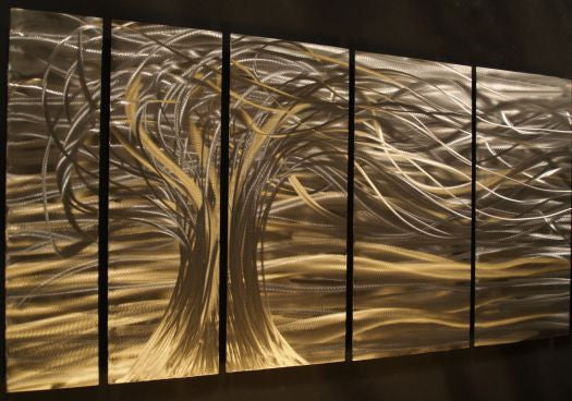 Whisper Contemporary Modern Metal Wall Art