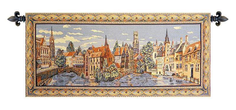 Views of Bruges European Wall Hanging Tapestry