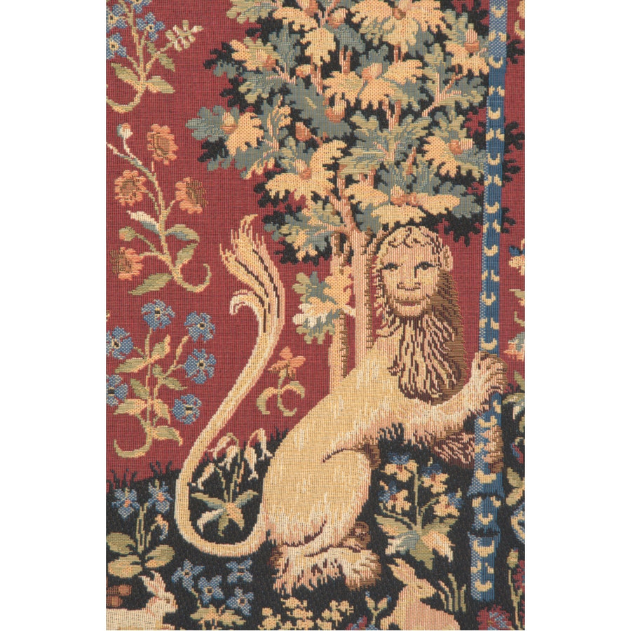 Red Lady and the Unicorn Sight Tapestry