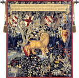 heraldic lion wall tapestry