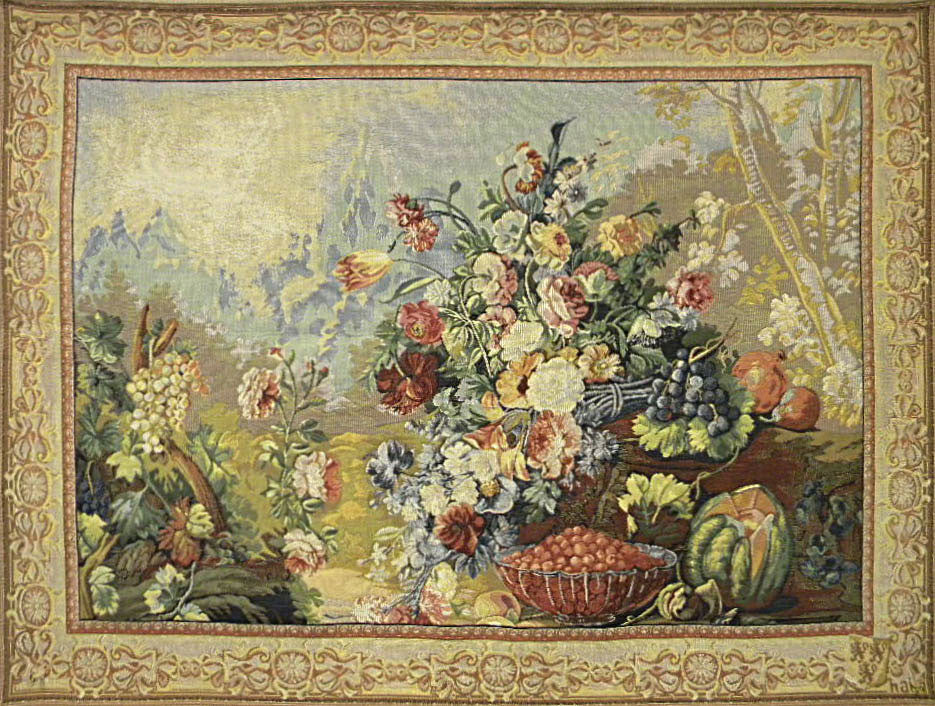 Bouquet d Arlay I French Wall Hanging Tapestry