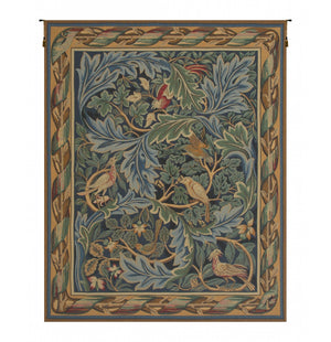 Green Les Oiseaux de William Morris French Wall Hanging Wall Tapestry