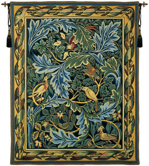 Les Oiseaux de William Morris French Wall Hanging Large Tapestry