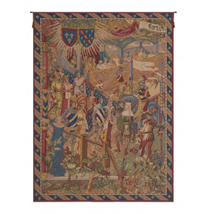 Blue La Cour French Wall Hanging Tapestry