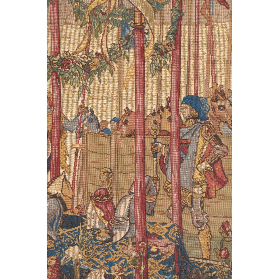Blue La Joute French Wall Hanging Tapestry