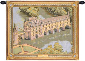 Chenonceau Castle II French Wall Hanging Tapestry
