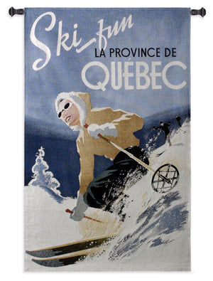 ski quebec winter tapestries on sale
