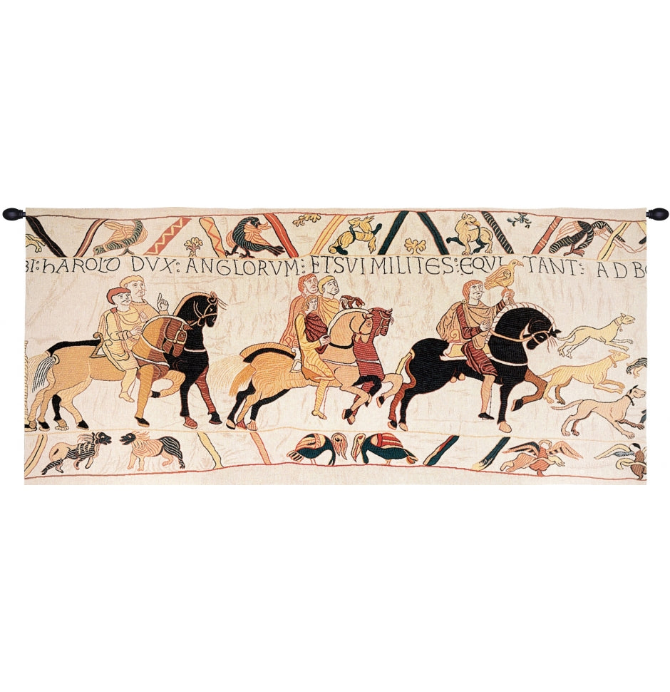 Large White William the Conqueror Wall Hanging Bayeux