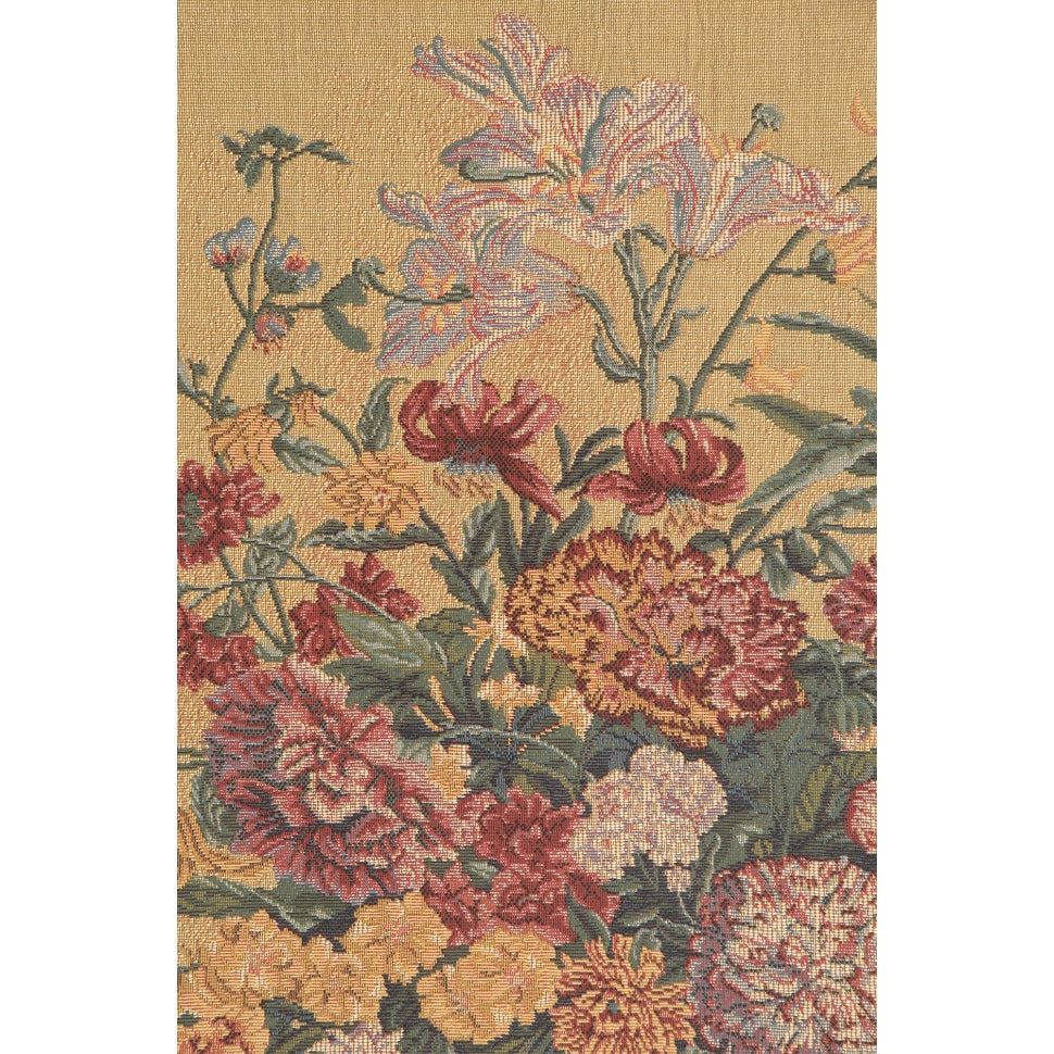 Large Colorful Floral Woven Tapestry
