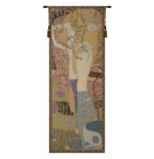 Water Snakes by Klimt Italian Wall Hanging Tapestry