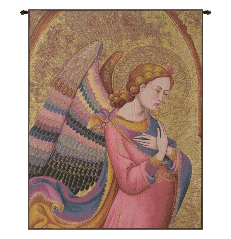 Gold L Monaco Angel Italian Wall Hanging Tapestry
