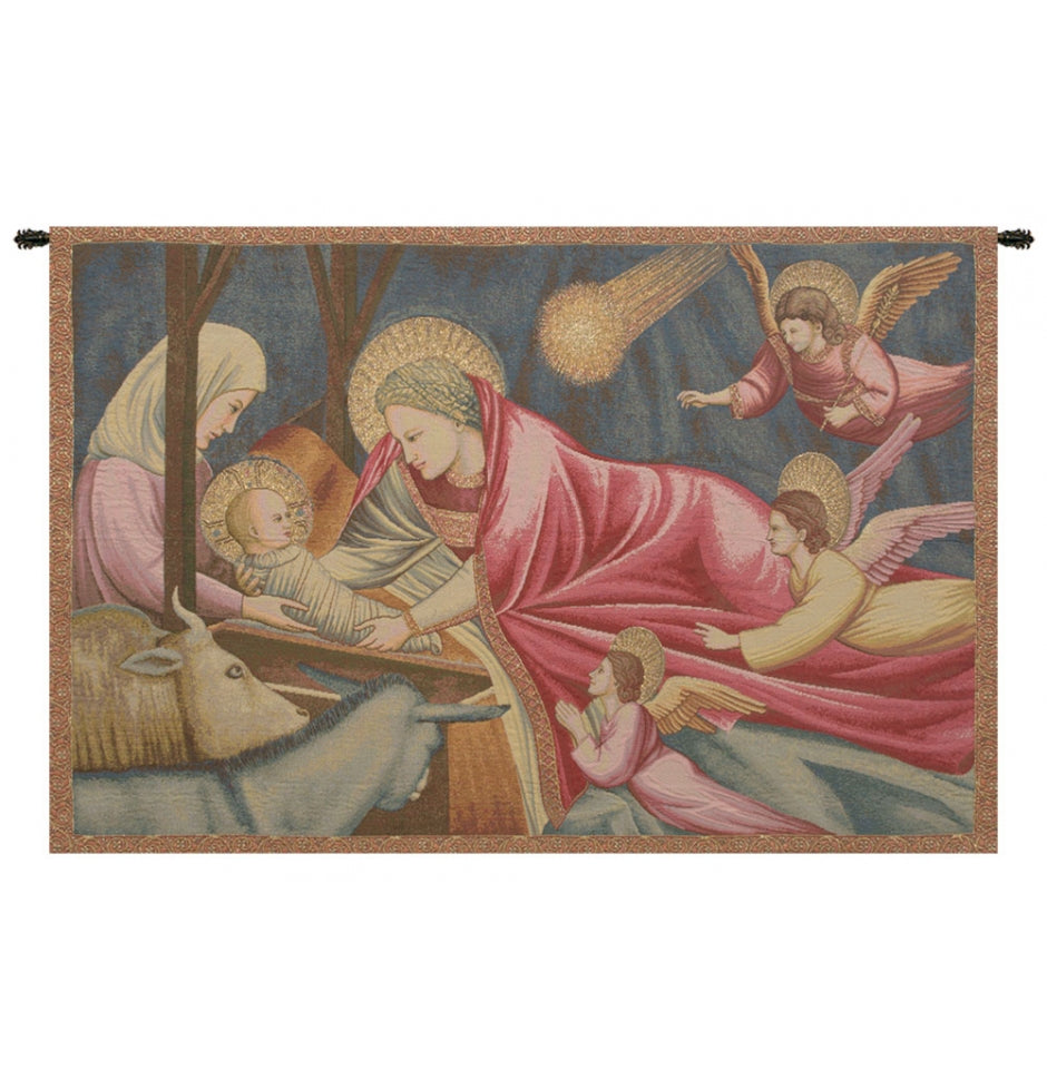 Nativity Giotto Italian Wall Hanging Tapestry