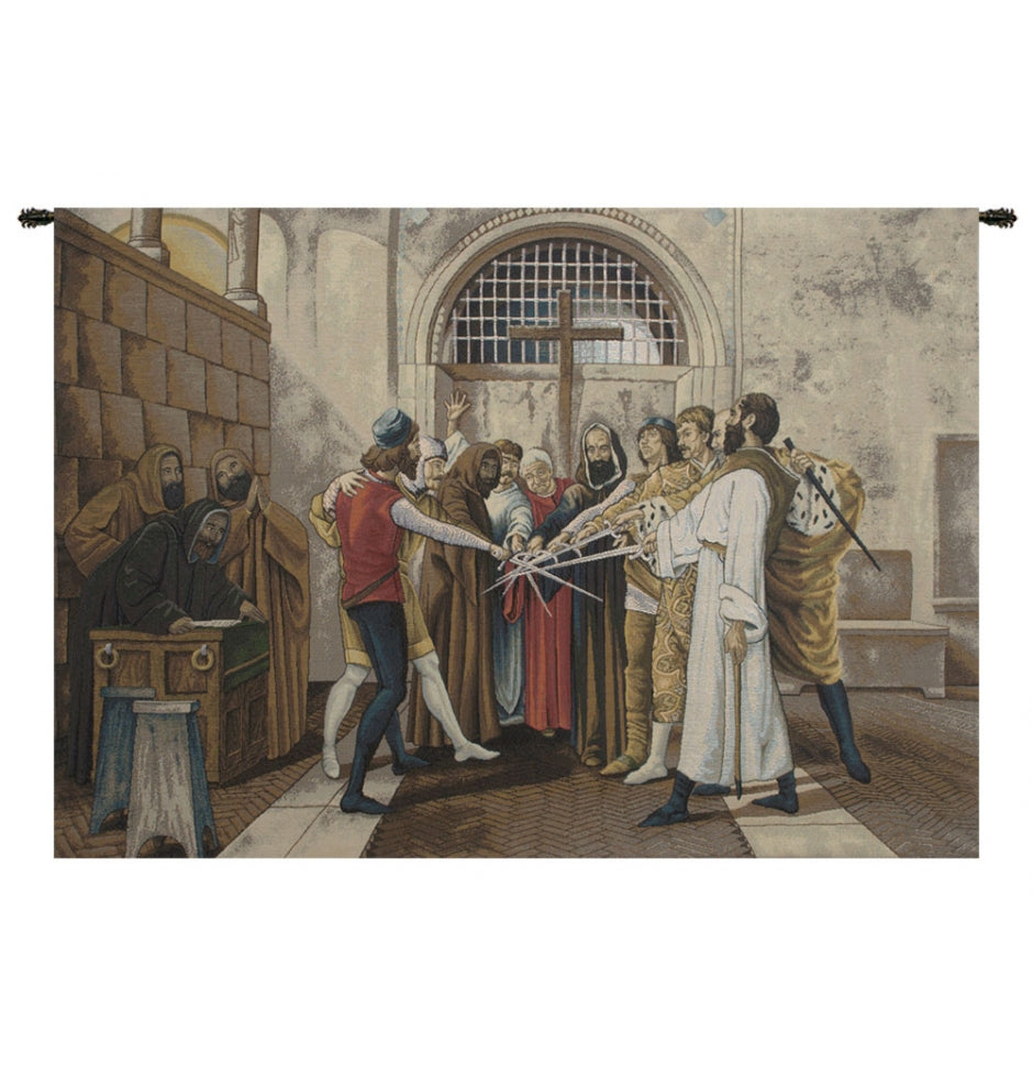 Gray Oath Italian Wall Hanging Tapestry