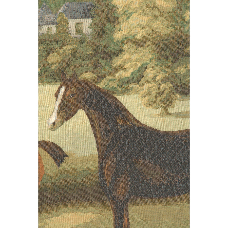 Five English Horses French Decor Wall Tapestry