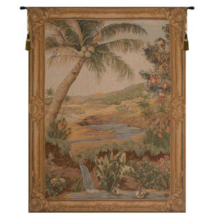 Gold L'Oasis French Decor Wall Tapestry