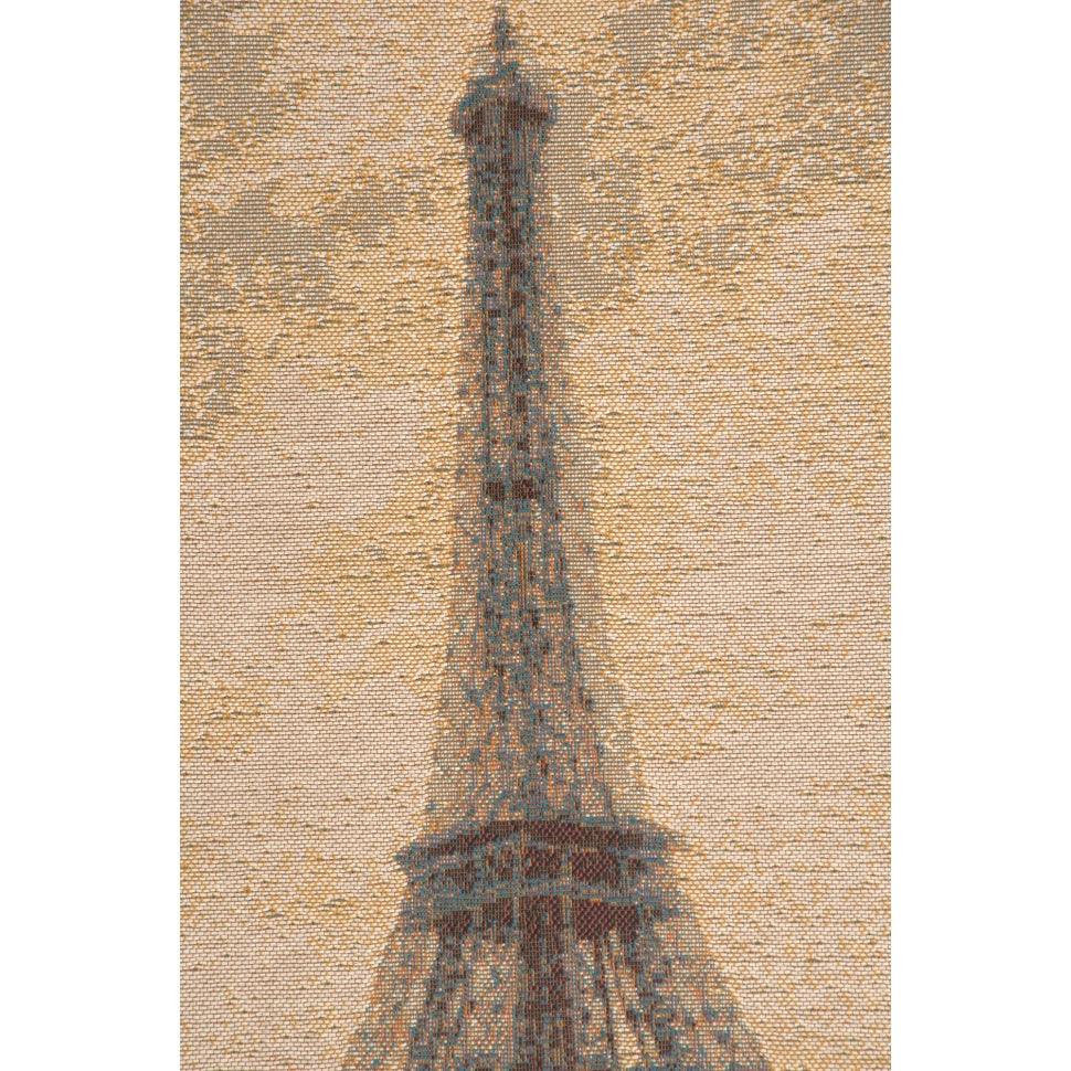 Small Beige Cotton Eiffel Tower Monument Paris Woven Wall Decor