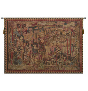 Le Tournai Horizontal French Decor Wall Tapestry
