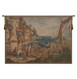 Blue Return of Peche French Decor Wall Tapestry