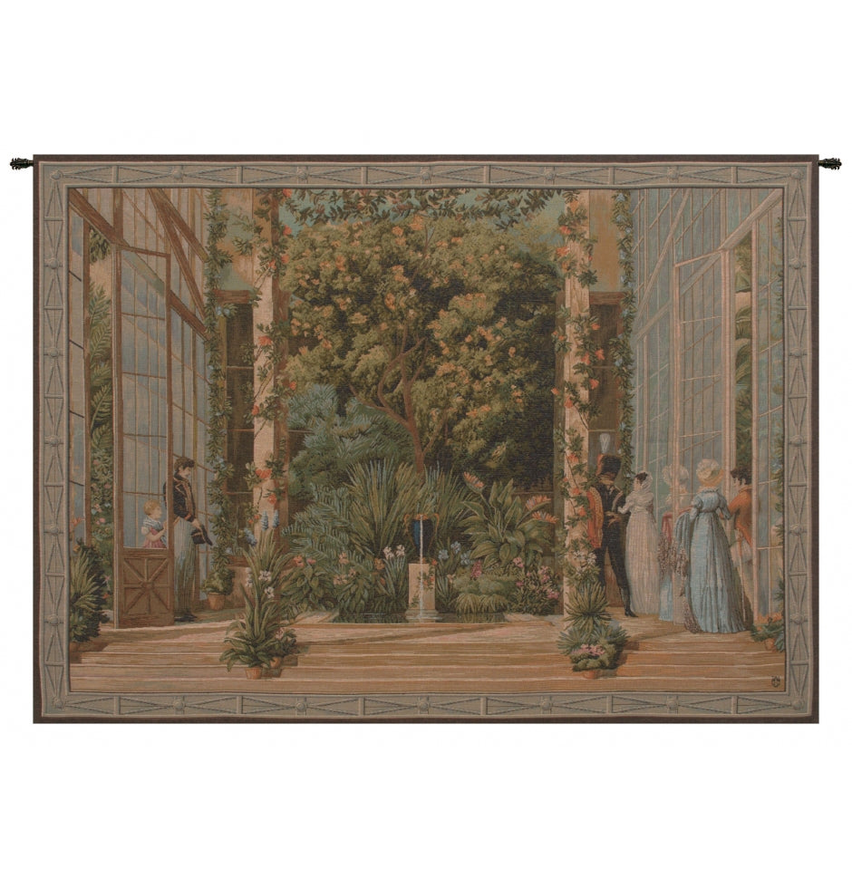 Green La Grand Serre French Decor Wall Tapestry