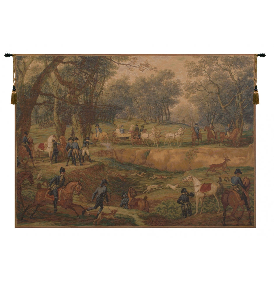 Green Chase Napolean French Decor Wall Tapestry