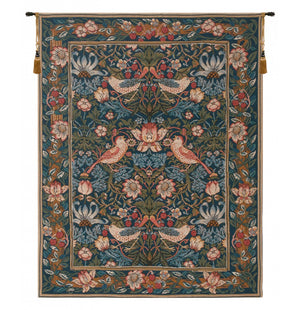 Birds Face to Face I French Wall Tapestry