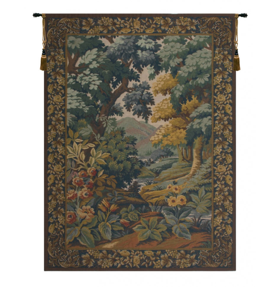 Landscape with Flowers European Wall Hanging Tapestry