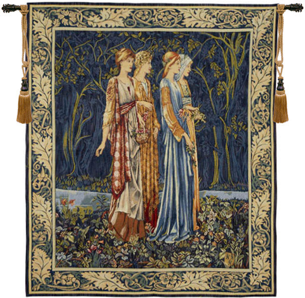 Blue Bridesmaids Muses French Wall Hanging Tapestry