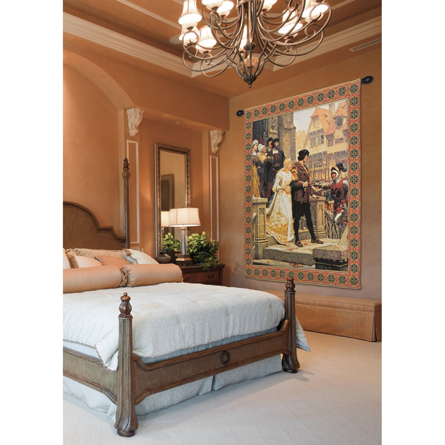 Call to Arms With Border European Hanging Wall Tapestry