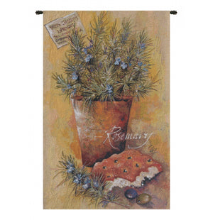 Yellow Rosemary European Hanging Wall Tapestry