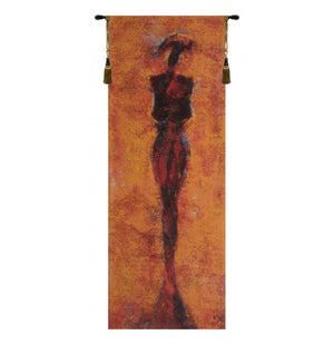 Africa Red European Hanging Wall Tapestry
