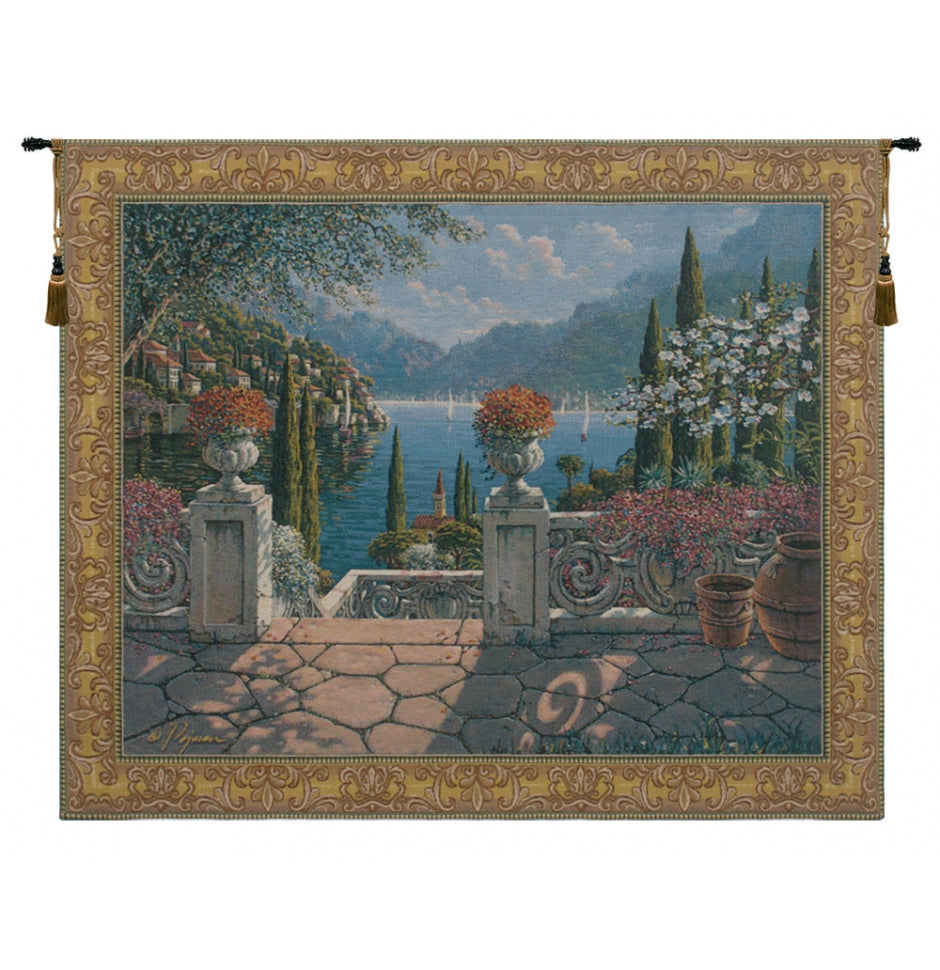 Italian Terrace European Hanging Wall Tapestry