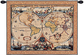 maritime map french tapestry wall tapestry