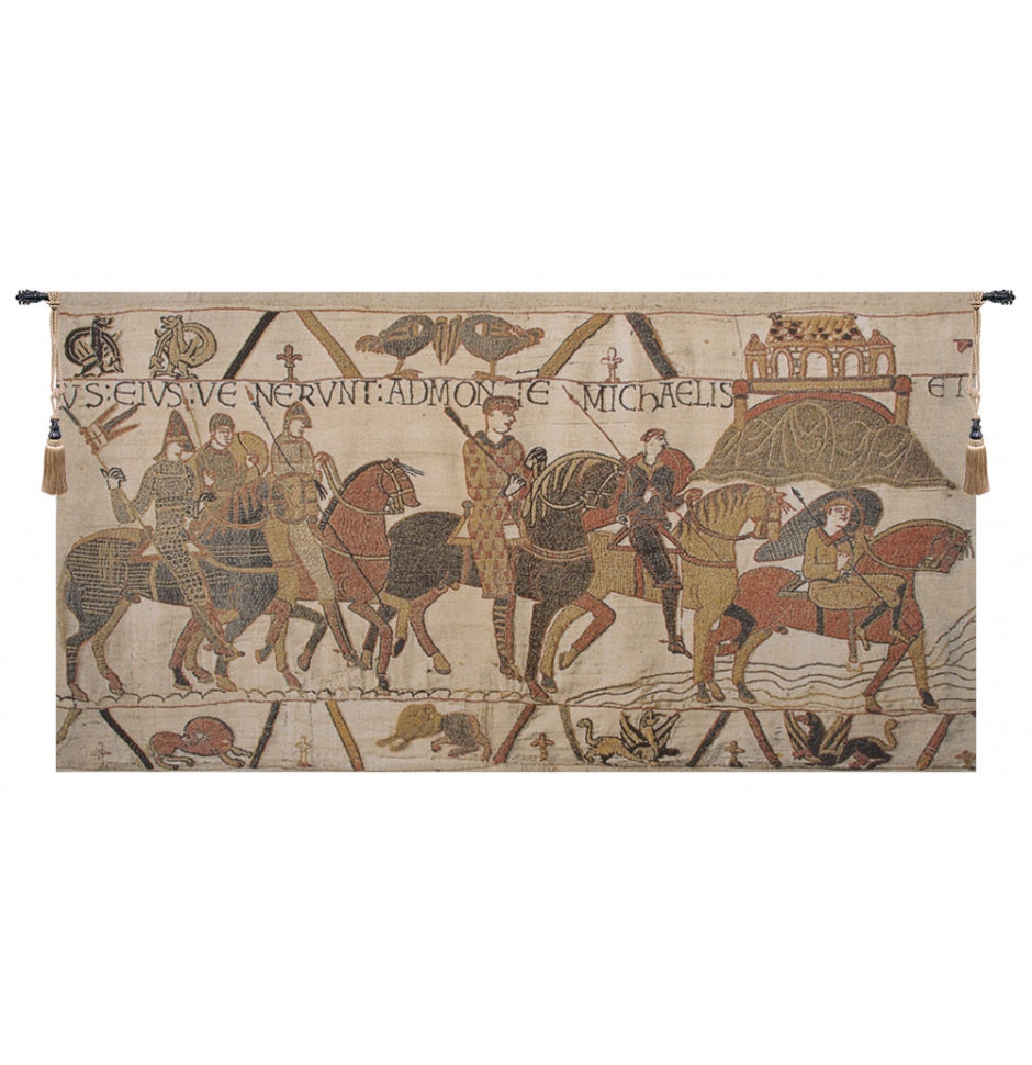 Bayeux Mont St Michael European Hanging Wall Tapestry