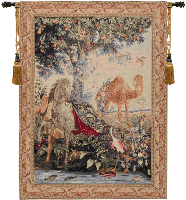 Cream Cheval Drape French Decor Wall Tapestry